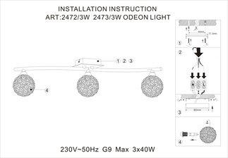 Spot odeon light aketi 2472 3w 2